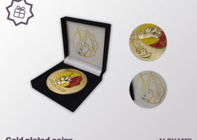24k Gold Plated custom coin with case